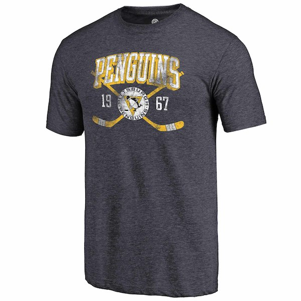 Pittsburgh Penguins Fanatics Branded Navy Line Shift Tri Blend T-Shirt
