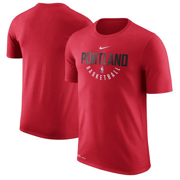Portland Trail Blazers Nike Practice Performance T-Shirt Red