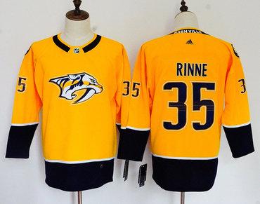 Predators 35 Pekka Rinne Gold Women Adidas Jersey