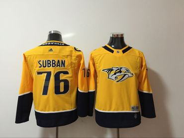 Predators 76 P.K. Subban Yellow Youth Adidas Jersey