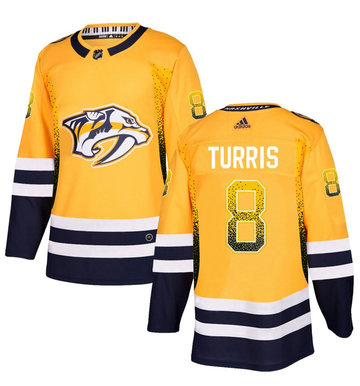 Predators 8 Kyle Turris Gold Drift Fashion Adidas Jersey
