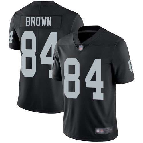 Raiders #84 Antonio Brown Black Team Color Men's Stitched Football Vapor Untouchable Limited Jersey