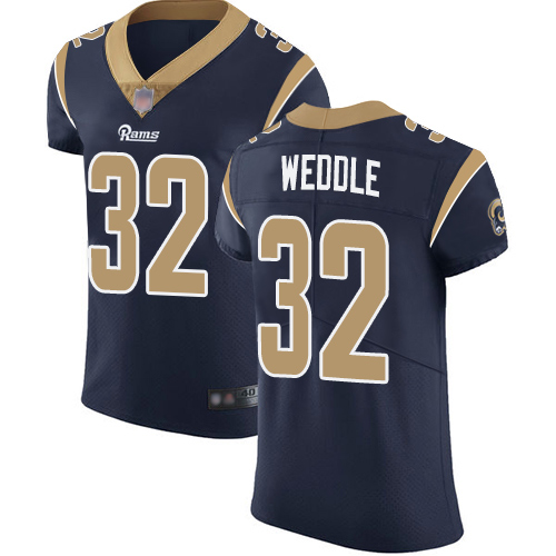 Rams #32 Eric Weddle Navy Blue Team Color Men's Stitched Football Vapor Untouchable Elite Jersey