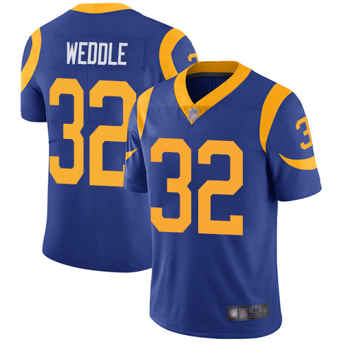 Rams #32 Eric Weddle Royal Blue Alternate Men's Stitched Football Vapor Untouchable Limited Jersey