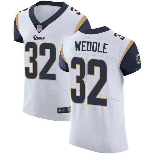 Rams #32 Eric Weddle White Men's Stitched Football Vapor Untouchable Elite Jersey