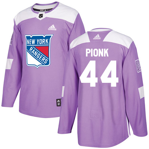 Rangers #44 Neal Pionk Purple Authentic Fights Cancer Stitched Hockey Jersey