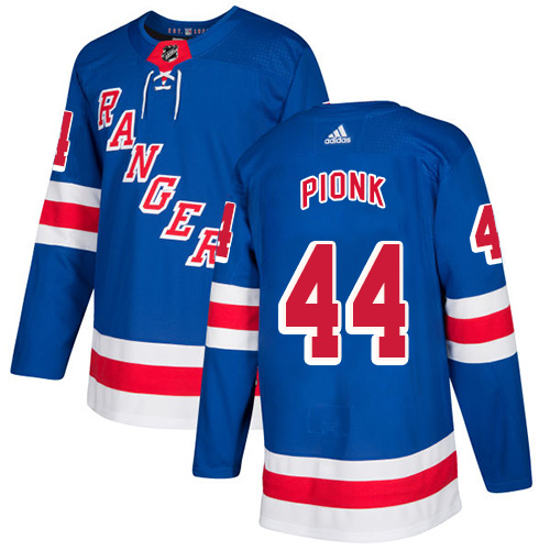 Rangers #44 Neal Pionk Royal Blue Home Authentic Stitched Hockey Jersey