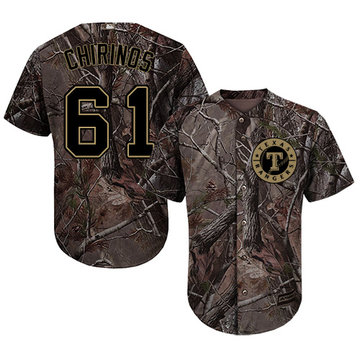 Rangers #61 Robinson Chirinos Camo Realtree Collection Cool Base Stitched Baseball Jersey