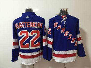 Rangers 22 Kevin Shattenkirk Blue Adidas Jersey