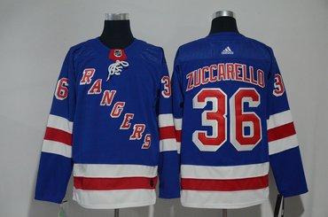 Rangers 36 Mats Zuccarello Blue Adidas Jersey