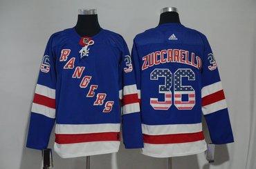 Rangers 36 Mats Zuccarello Blue US Flag Adidas Jersey
