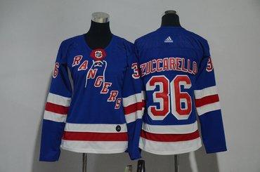Rangers 36 Mats Zuccarello Blue Women Adidas Jersey