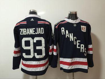 Rangers 93 Mika Zibanejad Navy Adidas Jersey