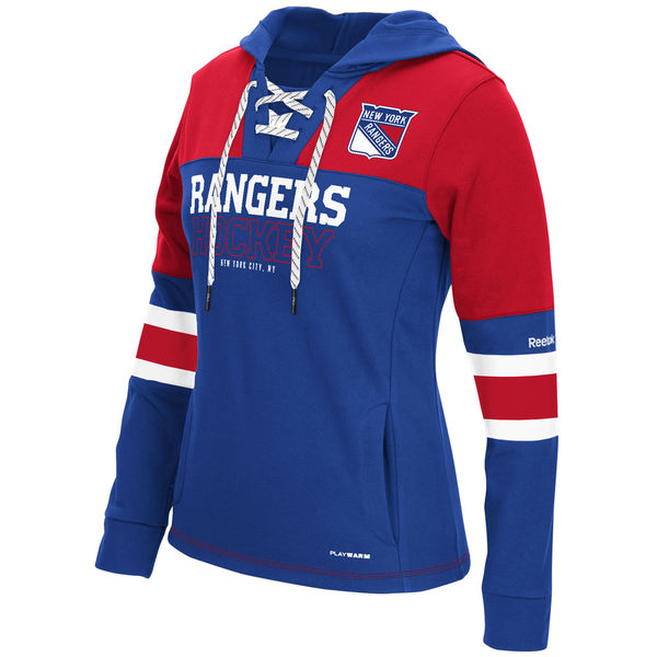 Rangers Blue Women's Customized All Stitched Hooded Sweatshirt