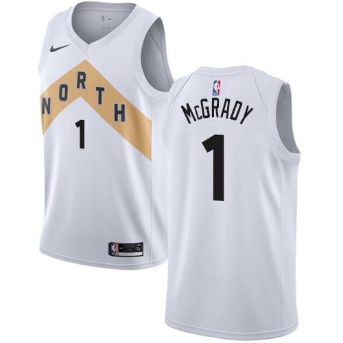 Raptors #1 Tracy Mcgrady White Basketball Swingman City Edition 2018 19 Jersey