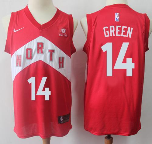Raptors #14 Danny Green Red Basketball Swingman Earned Edition Jersey