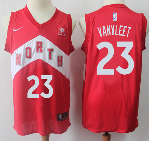 Raptors #23 Fred VanVleet Red Basketball Swingman Earned Edition Jersey