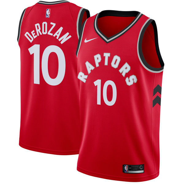 Raptors 10 DeMar DeRozan Red Nike Swingman Jersey(Without The Sponsor's Logo)