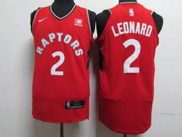 Raptors 2 Kawhi Leonard Red Nike Authentic Jersey