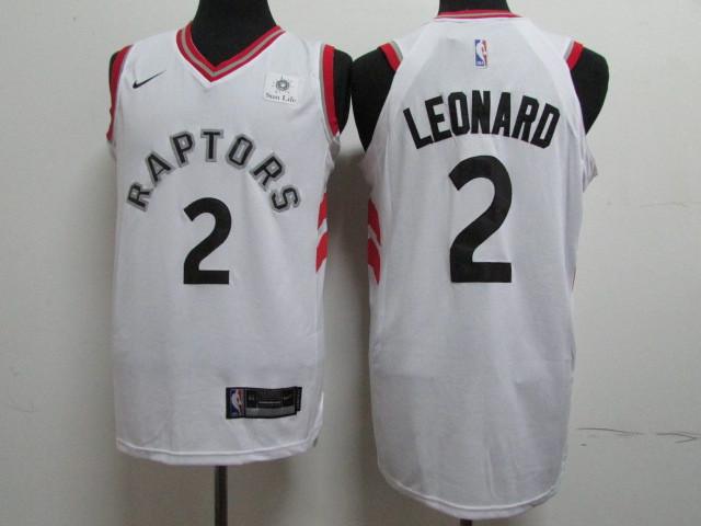 Raptors 2 Kawhi Leonard White Nike Authentic Jersey