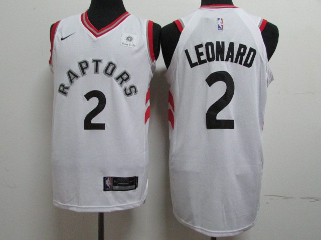 Raptors 2 Kawhi Leonard White Nike Authentic Jersey