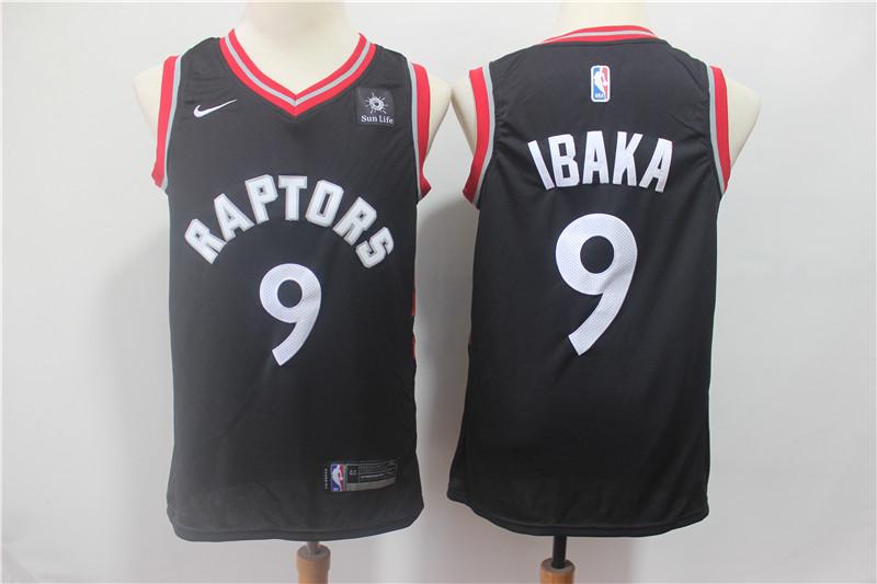 Raptors 9 Serge Ibaka Black Nike Swingman Jersey