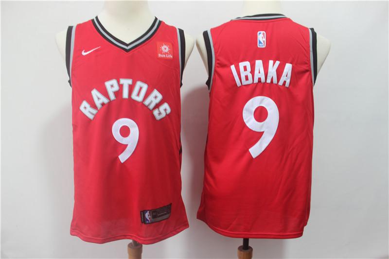 Raptors 9 Serge Ibaka Red Nike Swingman Jersey