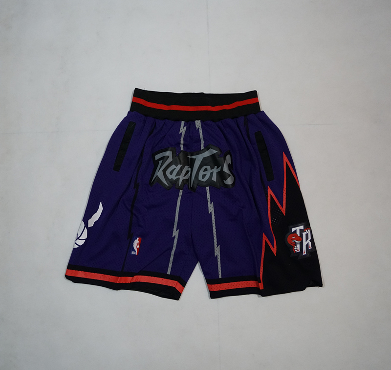 Raptors Purple Just Don Throwback Shorts