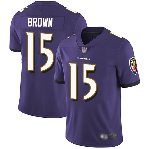 Ravens #15 Marquise Brown Purple Team Color Men's Stitched Football Vapor Untouchable Limited Jersey