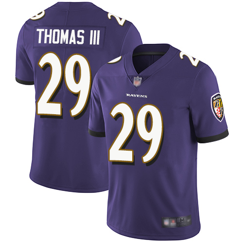 Ravens #29 Earl Thomas III Purple Team Color Men's Stitched Football Vapor Untouchable Limited Jersey