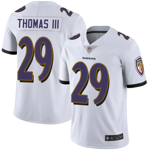 Ravens #29 Earl Thomas III White Men's Stitched Football Vapor Untouchable Limited Jersey