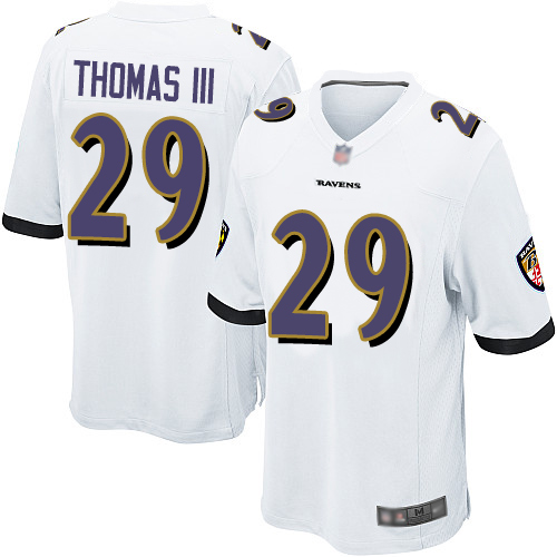 Ravens #29 Earl Thomas III White Youth Stitched Football New Elite Jersey