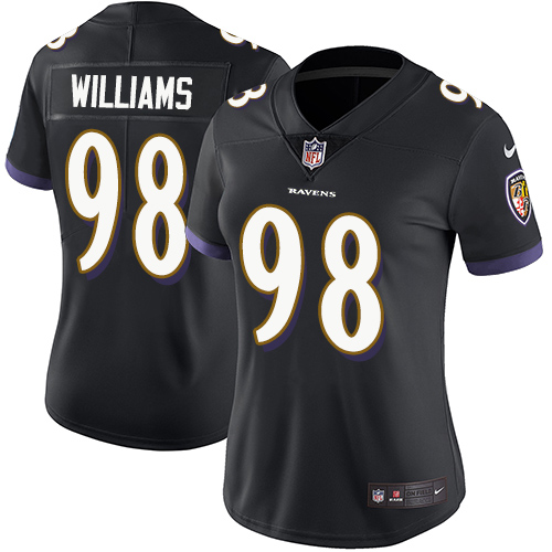 Ravens #98 Brandon Williams Black Alternate Women's Stitched Football Limited Vapor Untouchable Limited Jersey