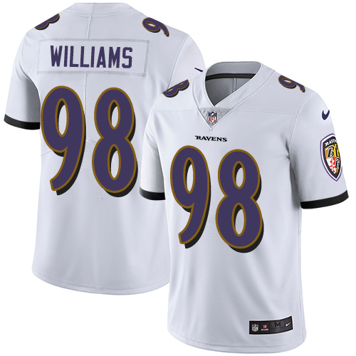 Ravens #98 Brandon Williams White Youth Stitched Football Vapor Untouchable Limited Jersey
