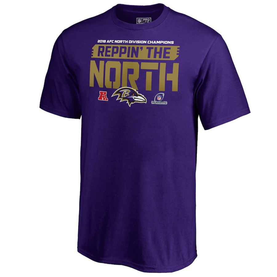 Ravens Purple 2018 NFL Playoffs Reppin' The North Men's T-Shirt