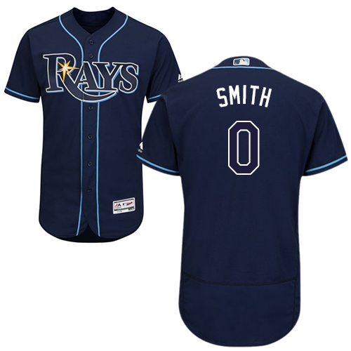 Rays #0 Mallex Smith Dark Blue Flexbase Authentic Collection Stitched Baseball Jersey
