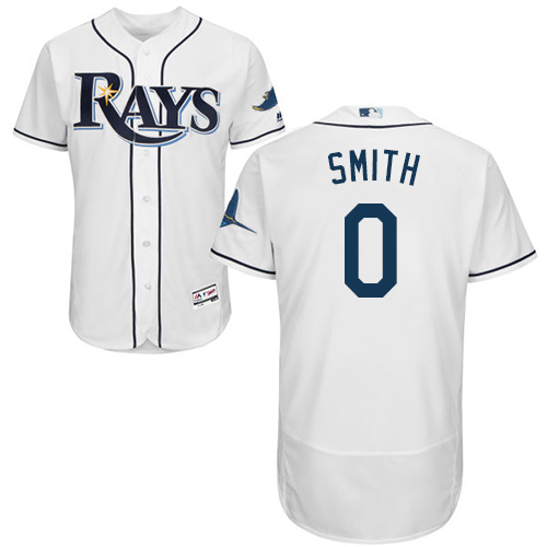 Rays #0 Mallex Smith White Flexbase Authentic Collection Stitched Baseball Jersey
