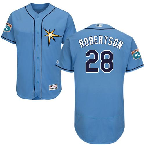 Rays #28 Daniel Robertson Light Blue Flexbase Authentic Collection Stitched Baseball Jersey