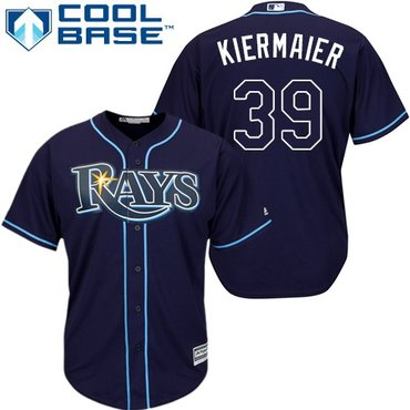 Rays #39 Kevin Kiermaier Dark Blue Cool Base Stitched Youth MLB Jersey