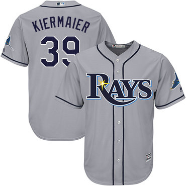 Rays #39 Kevin Kiermaier Grey New Cool Base Stitched MLB Jersey
