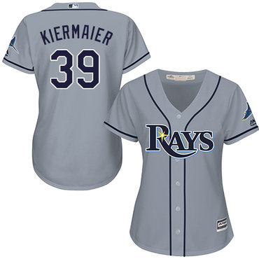 Rays #39 Kevin Kiermaier Grey Road Women's Stitched MLB Jersey