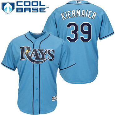 Rays #39 Kevin Kiermaier Light Blue New Cool Base Stitched MLB Jersey