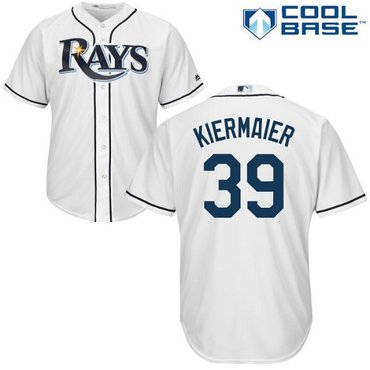 Rays #39 Kevin Kiermaier White Cool Base Stitched Youth MLB Jersey