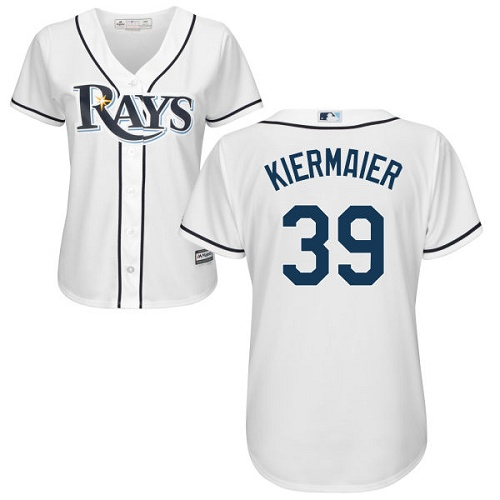 Rays #39 Kevin Kiermaier White Home Women's Stitched MLB Jersey