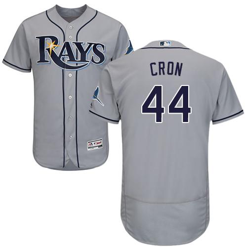 Rays #44 CJ Cron Grey Flexbase Authentic Collection Stitched Baseball Jersey