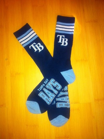 Rays Team Logo Navy Blue MLB Socks