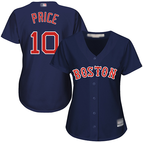 Red Sox #10 David Price Navy Blue Alternate Women's Stitched Baseball Jersey