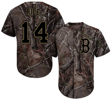 Red Sox #14 Jim Rice Camo Realtree Collection Cool Base Stitched Youth Baseball Jersey