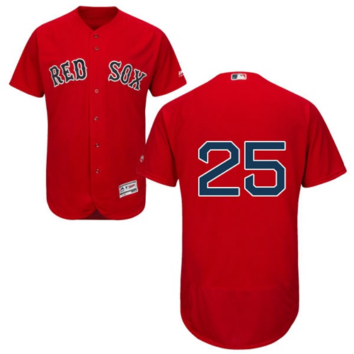 Red Sox #25 Steve Pearce Red Flexbase Authentic Collection Stitched MLB Jersey