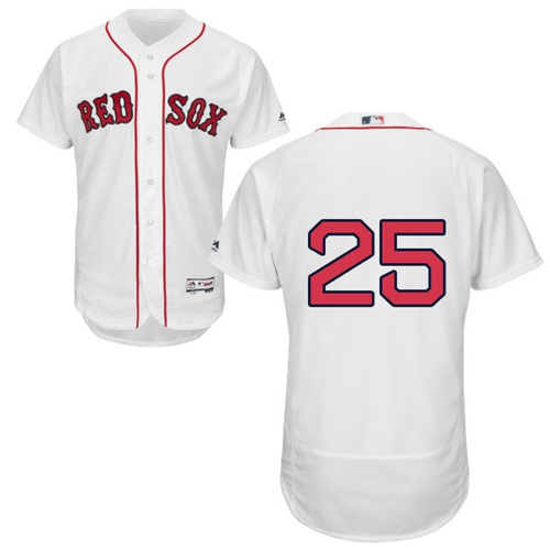 Red Sox #25 Steve Pearce White Flexbase Authentic Collection jerseyssite.net Stitched MLB Jersey